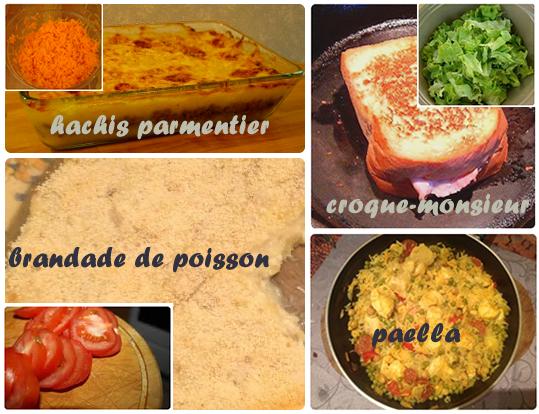 Pixoblog id es de repas des menus modifiables avec for Idee repas convivial pas cher