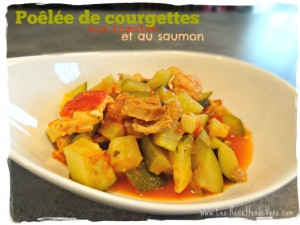 recette sur pixorepas po l e de courgettes et tomates au saumon. Black Bedroom Furniture Sets. Home Design Ideas